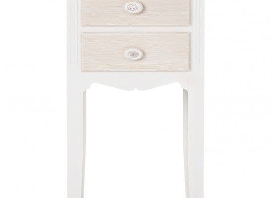 Rennes Soft White And Cream 2 Drawer Table 17LD67